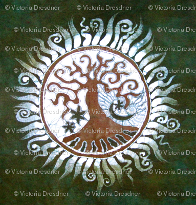 Green Tree of Life by Batikwalla