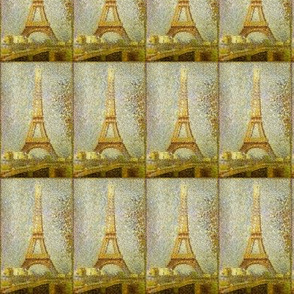 Eiffel Tower Pointeliste