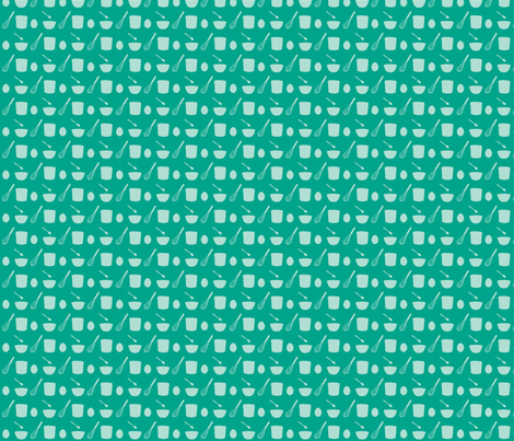 Souffle: Eggs Stir Mix Bake - teal fabric by morrigoon on Spoonflower - custom fabric