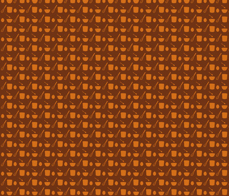 Clara's Souffle: Eggs Stir Mix Bake-brown fabric by morrigoon on Spoonflower - custom fabric