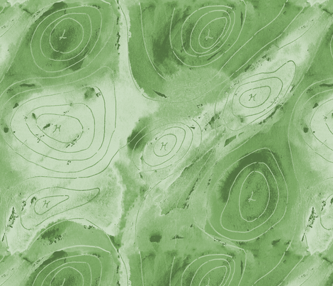 isobars green fabric by zandloopster on Spoonflower - custom fabric