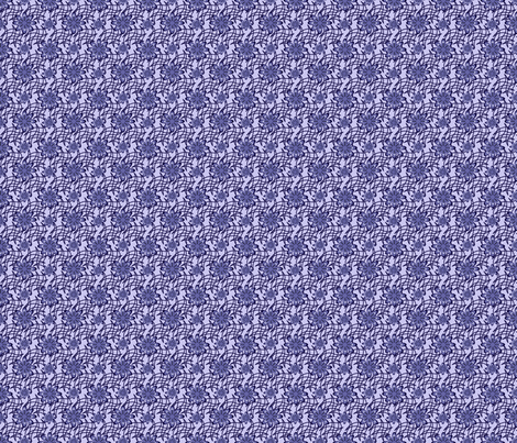 Blue Flowers on a Web fabric by olumna on Spoonflower - custom fabric