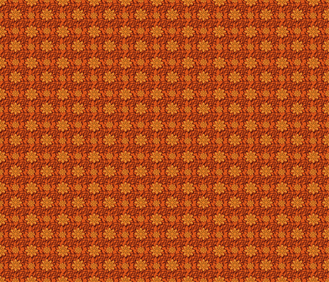 Smaller Orange Flowers on a Web fabric by olumna on Spoonflower - custom fabric