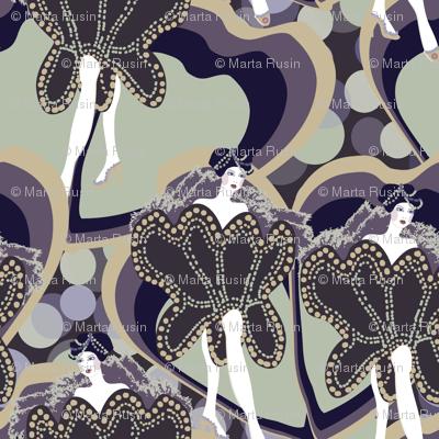 dancers in violet