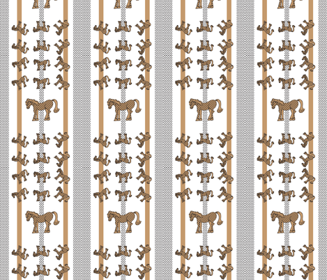 Brown Polka Dot Horse Pattern 2 fabric by artflower on Spoonflower - custom fabric
