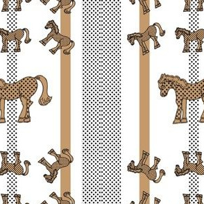 Brown Polka Dot Horse Pattern 2