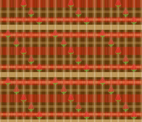 Strawberry Garden Plaid fabric by artflower on Spoonflower - custom fabric