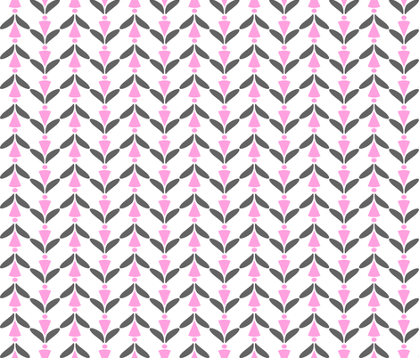 herringbone grey pink 3 fabric by mojiarts on Spoonflower - custom fabric