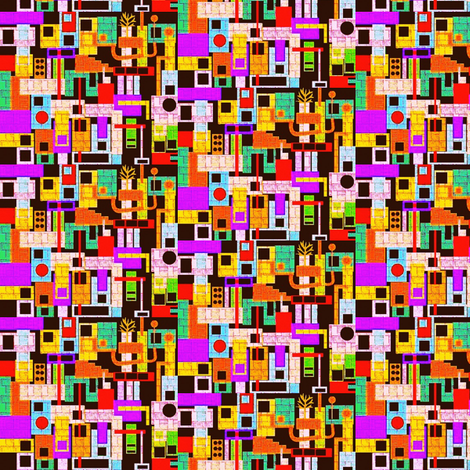 Tiny Amsterdam fabric by boris_thumbkin on Spoonflower - custom fabric