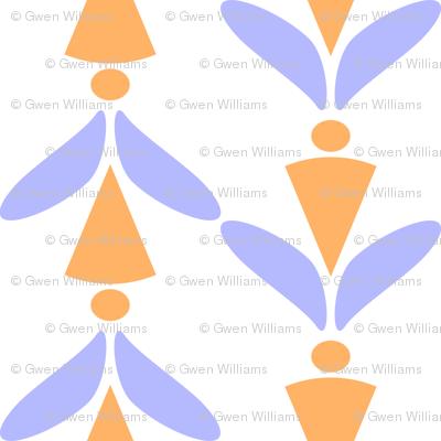 herringbone orchid orange 5