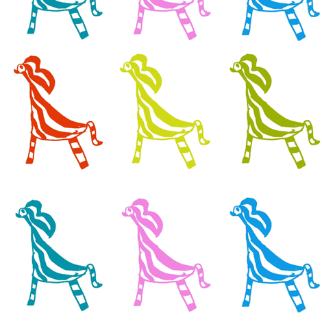 Candy Animals  fabric by boris_thumbkin on Spoonflower - custom fabric