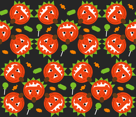 Pumpkin Head fabric by kel_marie_n on Spoonflower - custom fabric