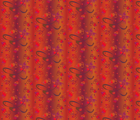 Saucy Autumn Flowers © Gingezel™ 2012 fabric by gingezel on Spoonflower - custom fabric