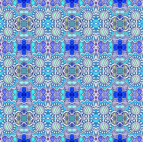 Circles Meet Squares Blues fabric by edsel2084 on Spoonflower - custom fabric