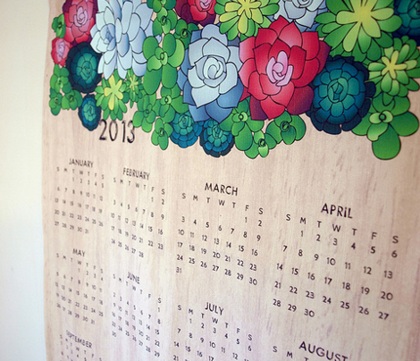 Sweet Succulents 2013 Calendar
