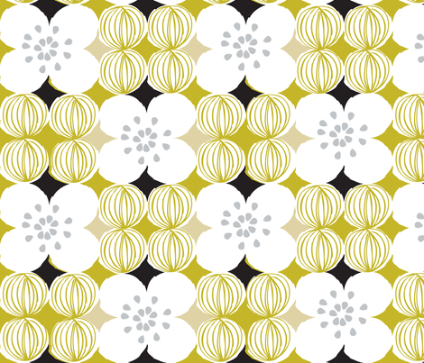 floral_dots fabric by ottomanbrim on Spoonflower - custom fabric