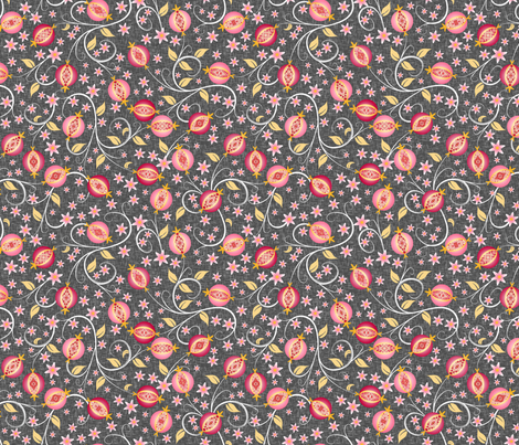 A Jewel of A Fruit - Medium fabric by inscribed_here on Spoonflower - custom fabric