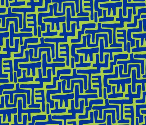 Architectually eighties (blue-lime) fabric by bippidiiboppidii on Spoonflower - custom fabric
