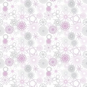 Rosaces_violet et gris