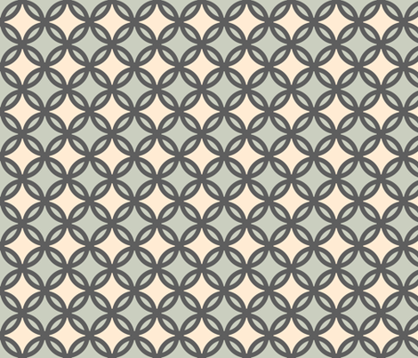 circles diamonds iron green 4 fabric by mojiarts on Spoonflower - custom fabric