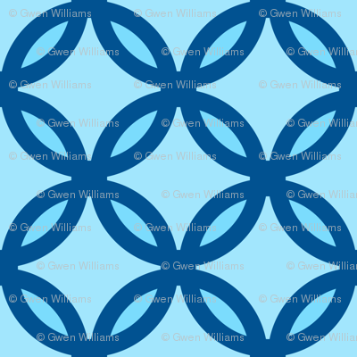circles diamonds ocean blue