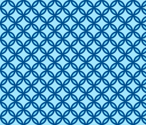 circles diamonds ocean blue fabric by mojiarts on Spoonflower - custom fabric