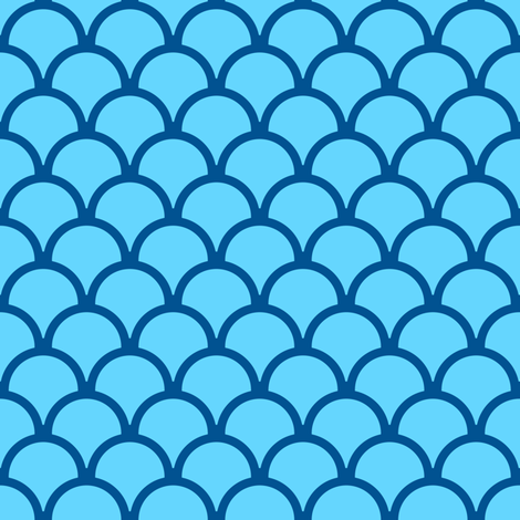 scallops ocean blue fabric by mojiarts on Spoonflower - custom fabric