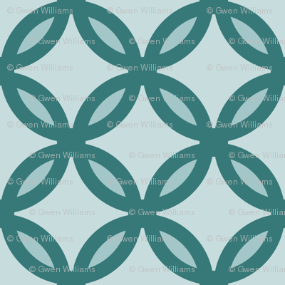 circles diamonds ocean green 2