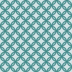 circles diamonds ocean green 2
