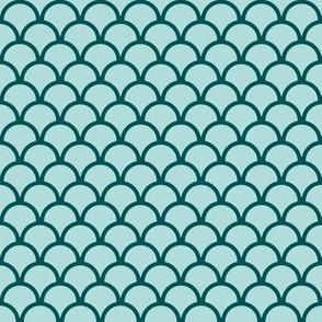 scallops ocean green