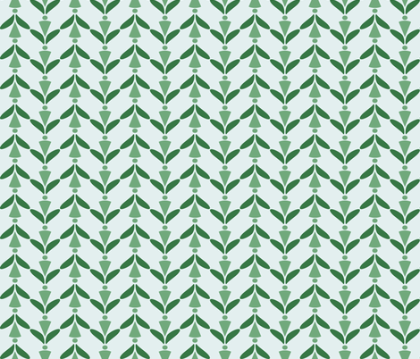 herringbone green 9 fabric by mojiarts on Spoonflower - custom fabric