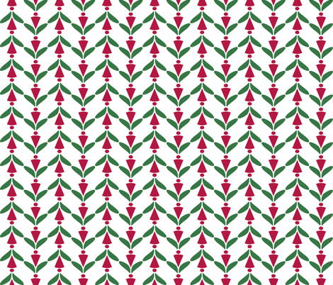 xmas herringbone fabric by mojiarts on Spoonflower - custom fabric