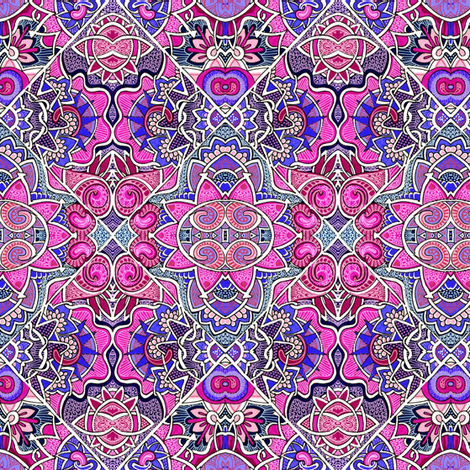 Magenta Mandala Patchwork fabric by edsel2084 on Spoonflower - custom fabric