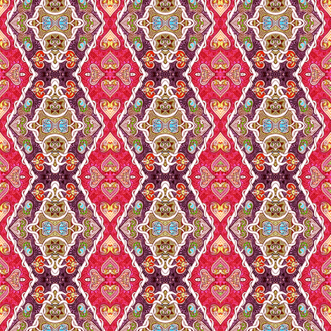 Western Cowgirl Harlequin  fabric by edsel2084 on Spoonflower - custom fabric