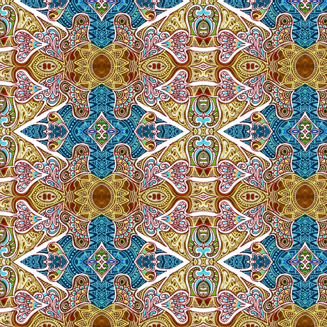 By the Light of Aladdin's Lamp fabric by edsel2084 on Spoonflower - custom fabric