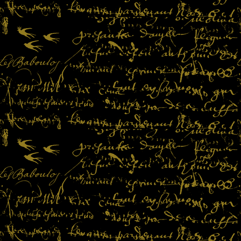 Anitas inspiration black 0 and gold fabric by karenharveycox on Spoonflower - custom fabric