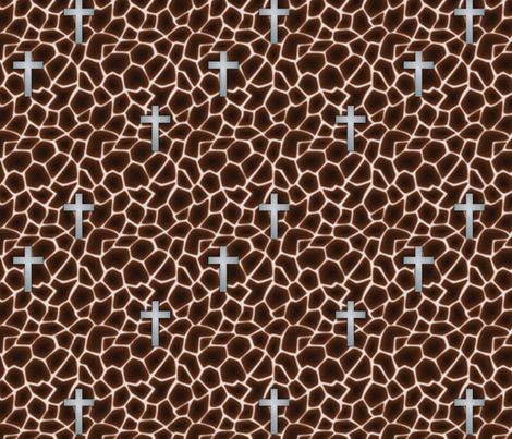 giraffe_cross_silver fabric by glimmericks on Spoonflower - custom fabric
