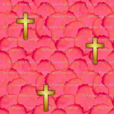 cross_gold_rose_petals