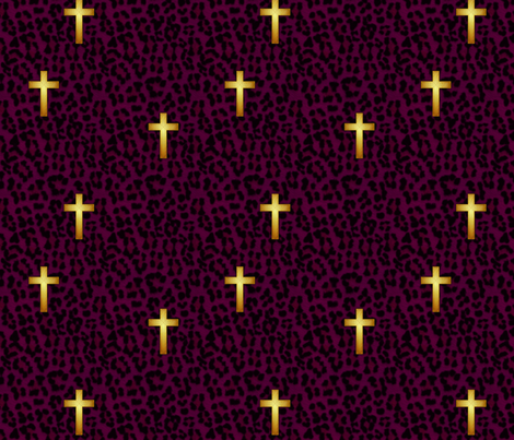 leopard_cross_purple fabric by glimmericks on Spoonflower - custom fabric