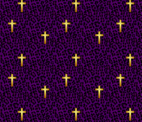 leopard_cross_amethyst fabric by glimmericks on Spoonflower - custom fabric