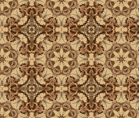 kaleidoscope dancefloor in sepia fabric by kociara on Spoonflower - custom fabric