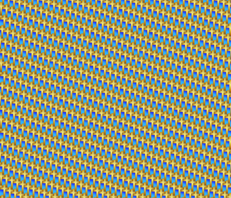 gold_cross_weave_on_blue fabric by glimmericks on Spoonflower - custom fabric