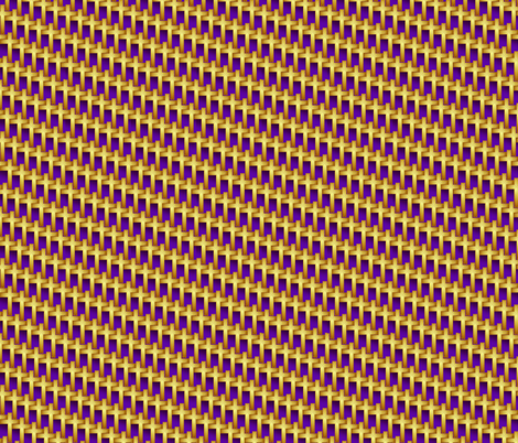 gold_cross_weave_on_purple fabric by glimmericks on Spoonflower - custom fabric