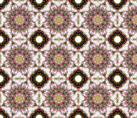 kaleidoscopic hydrengae fabric by kociara on Spoonflower - custom fabric