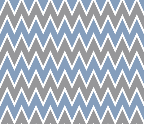 Chevron Vintage Blue fabric by allisajacobs on Spoonflower - custom fabric