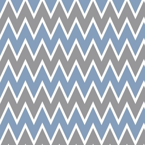 Chevron Vintage Blue