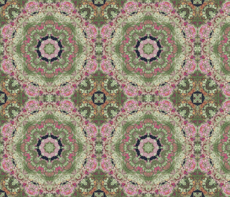 kaleidoscopic floral fabric by kociara on Spoonflower - custom fabric