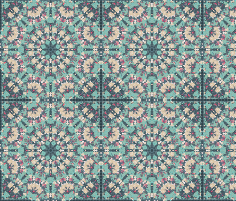 kaleidoscopic lotus fabric by kociara on Spoonflower - custom fabric
