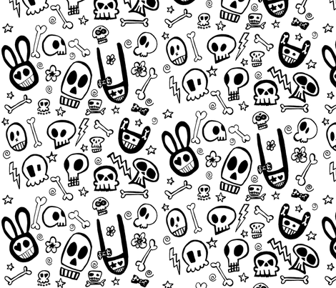FunSkulls fabric by lauralvarez on Spoonflower - custom fabric