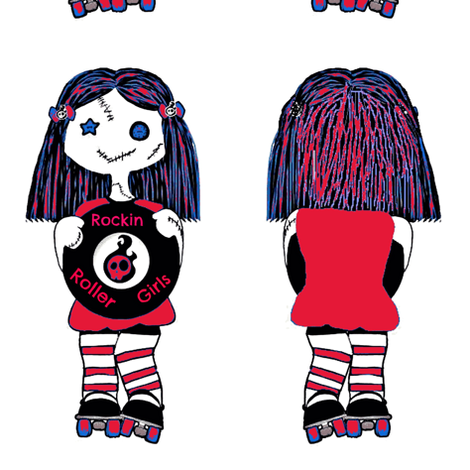 7 in red rockin doll fabric by derbymom716 on Spoonflower - custom fabric